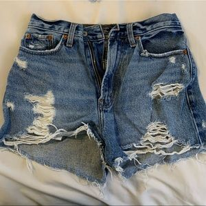 A and F high rise shorties size 24